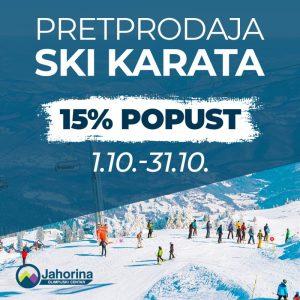 Pretprodaja ski karata za sezonu 2020/21